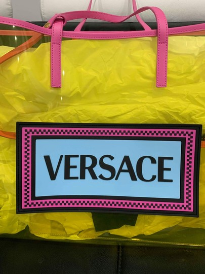 Versace Rockstud Studded Classic Quilted Fanny Tote in Yellow Image 7