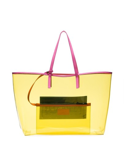 Versace Rockstud Studded Classic Quilted Fanny Tote in Yellow Image 8