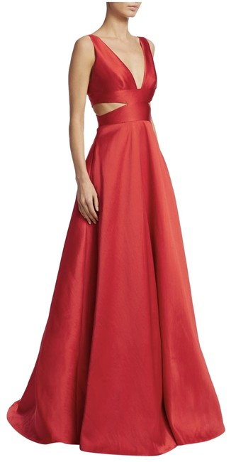 Item - Cherry Plunging Ball Gown Long Formal Dress Size 12 (L)