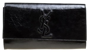 Saint Laurent Patent Leather Black Clutch