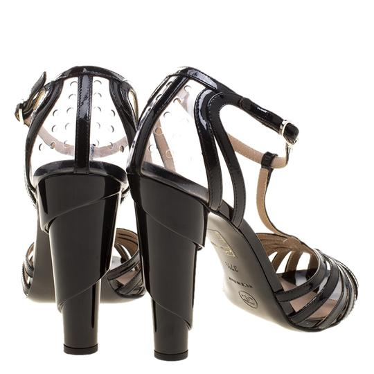Chanel Patent Leather Pvc Leather Black Sandals Image 2