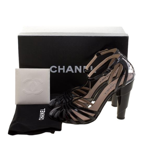 Chanel Patent Leather Pvc Leather Black Sandals Image 7