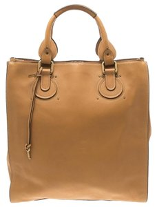 Chloé Leather Tote in Tan