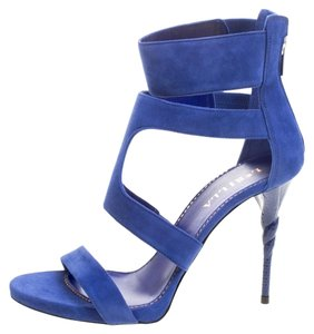 Le Silla Suede Blue Sandals