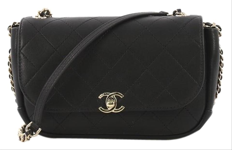 b4d119a599a7 Chanel Classic Flap Casual Trip Quilted Small Black Lambskin Leather ...
