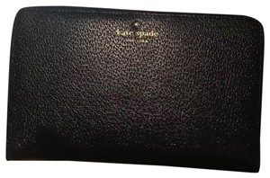 Kate Spade New Kate Spade Grand Street Black Leather Zip Around Travel Wallet & Clutch