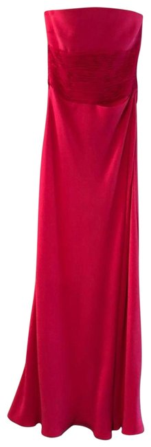 Item - Pink New Strapless Silk Gown Long Formal Dress Size 8 (M)