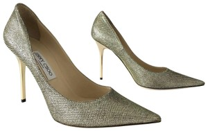 Jimmy Choo Abel Lame Glitter Italy Light Bronze Pumps