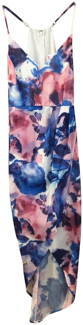 Item - Multi-colored (Pink Blue Purple White) By Amy Mid-length Cocktail Dress Size 8 (M)