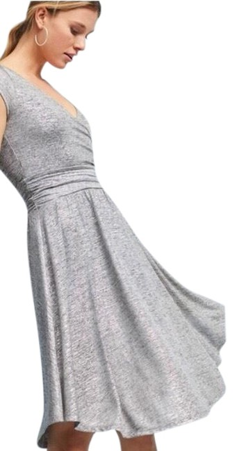 Item - Silver Maeve Tamera Wrap Mid-length Cocktail Dress Size 0 (XS)