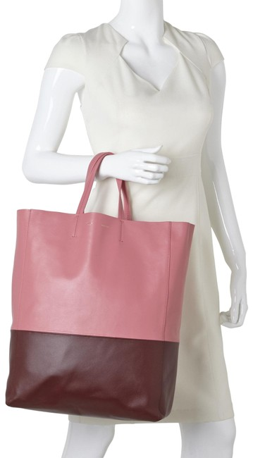 Item - Cabas Smooth Small Vertical Bi-cabas Rust Pink Lambskin Leather Tote