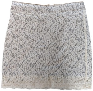 Lord & Taylor Lace Skirt White