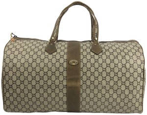 Gucci Canvas Duffle Monogram Travel Bag