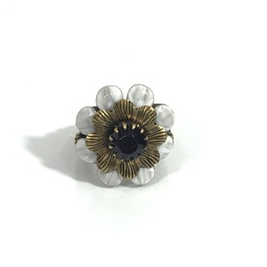 3c80ff6e30c Gucci NEW GUCCI 489895 Flower Crystal Metal Ring