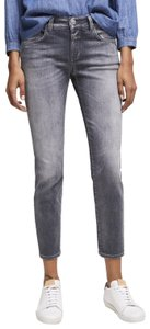 CLOSED Relaxed Slim Fit Mid Waist Denim Wash Skinny Jeans-Medium Wash