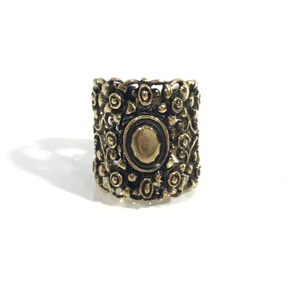e6391a04b Gucci NEW GUCCI 417420 Wide Band Metal Floral Ring, Sz. 7.75US Image 0 ...