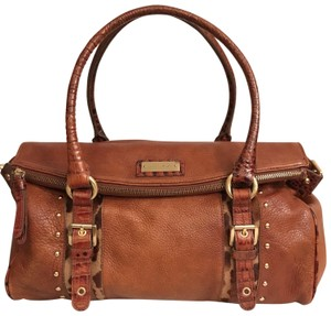 Brahmin Purse Handbag Tote Shoulder Large Satchel in Brown