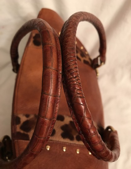 Brahmin Purse Handbag Tote Shoulder Large Satchel in Brown Image 11