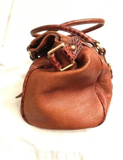 Brahmin Purse Handbag Tote Shoulder Large Satchel in Brown Image 2