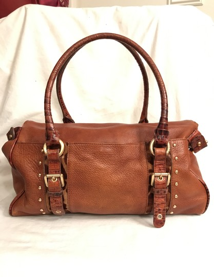 Brahmin Purse Handbag Tote Shoulder Large Satchel in Brown Image 3