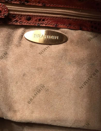 Brahmin Purse Handbag Tote Shoulder Large Satchel in Brown Image 5