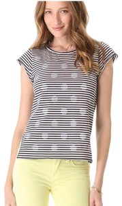 Marc by Marc Jacobs T Shirt Blue & Cream