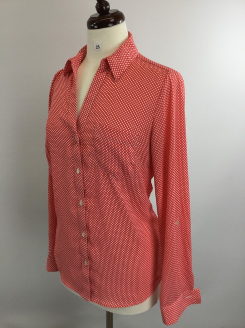 Outback Red Orange Button-down Top Size 8 (M) Outback Red Orange Button-down Top Size 8 (M) Image 2