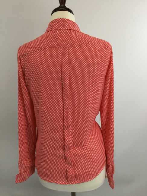Outback Red Orange Button-down Top Size 8 (M) Outback Red Orange Button-down Top Size 8 (M) Image 3