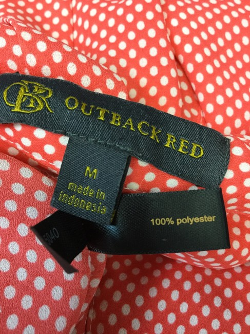 Outback Red Orange Button-down Top Size 8 (M) Outback Red Orange Button-down Top Size 8 (M) Image 4
