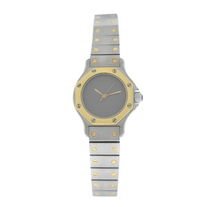 Cartier Ladies Cartier Santos Octagon 25MM Steel 18K Yellow Gold Automatic