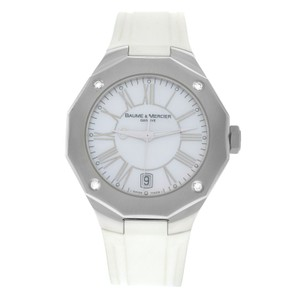 Baume & Mercier Ladies Baume & Mercier Riviera 65575 Steel Diamond MOP Quartz 38MM