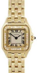 Cartier Cartier Panthere 18k Yellow Gold Diamond Bezel Ladies Watch