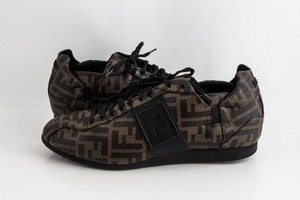 Fendi Brown Softy Zucca Sneakers Shoes