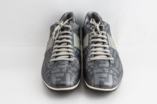 Fendi Silver Softy Zucca Sneakers Shoes Image 1
