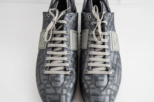 Fendi Silver Softy Zucca Sneakers Shoes Image 11