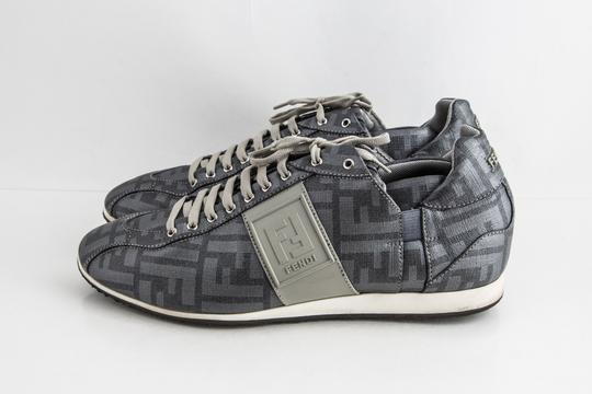 Fendi Silver Softy Zucca Sneakers Shoes Image 2
