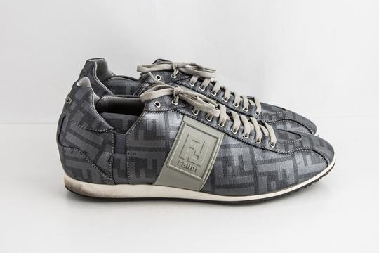 Fendi Silver Softy Zucca Sneakers Shoes Image 3