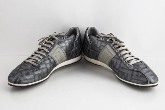 Fendi Silver Softy Zucca Sneakers Shoes Image 5