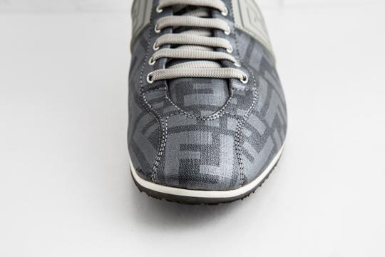Fendi Silver Softy Zucca Sneakers Shoes Image 8