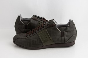 Fendi Green Military Softy Zucca Sneakers Shoes