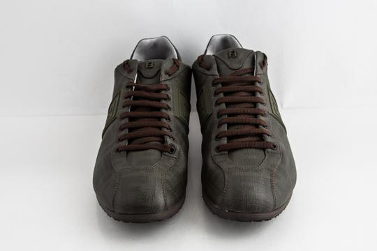 Fendi Green Military Softy Zucca Sneakers Shoes Image 1
