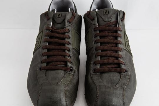 Fendi Green Military Softy Zucca Sneakers Shoes Image 11