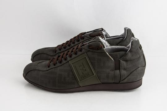 Fendi Green Military Softy Zucca Sneakers Shoes Image 2