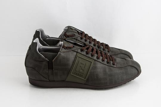 Fendi Green Military Softy Zucca Sneakers Shoes Image 3
