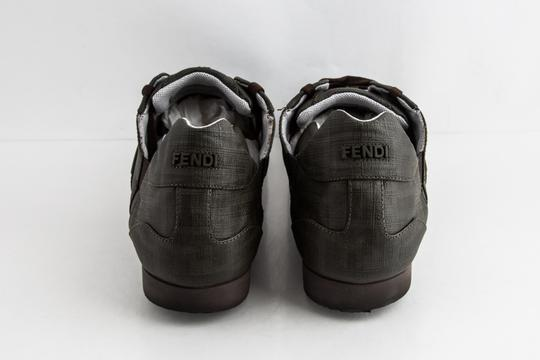 Fendi Green Military Softy Zucca Sneakers Shoes Image 4
