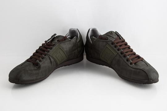 Fendi Green Military Softy Zucca Sneakers Shoes Image 5