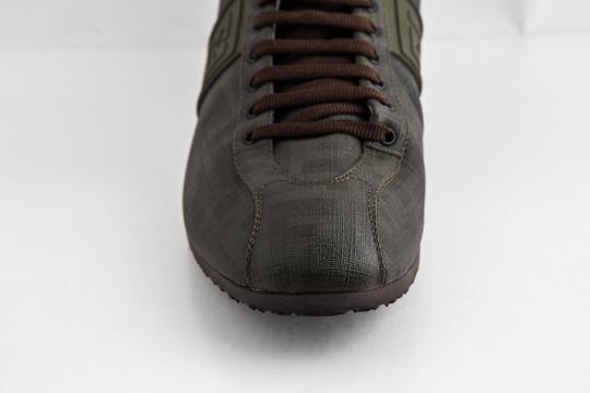 Fendi Green Military Softy Zucca Sneakers Shoes Image 7