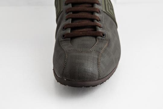 Fendi Green Military Softy Zucca Sneakers Shoes Image 8