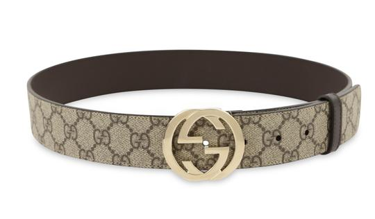 Gucci GG Supreme belt with G buckle Image 1