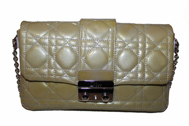 Item - Cannage Quilted Patent Miss Promenade Green Leather Cross Body Bag